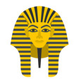 egyptian golden pharaohs mask icon isolated vector image