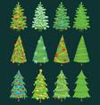 Christmas tree ornament design vector image