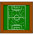 Soccer tactics vector image