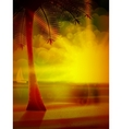 Sunset on the beach of sea vector image vector image