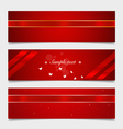 Card note with ribbons vector image vector image