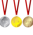 Set of 2016 medals vector image vector image