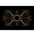 Gold geometric frame with openwork floral decor vector image vector image