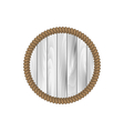 round wooden frame with rope isolated on white vector image