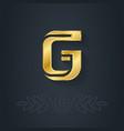elegant gold font Letter G Template for company vector image