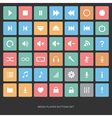 Set of flat media player buttons vector image