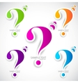 colorful paper question mark for speech vector image vector image
