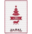 Christmas greeting card with symbols of the coming vector image