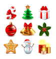 Christmas objects set vector image