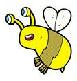 comic cartoon happy bee vector image