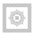 Ethnic Circle Element Orient Design Mandala vector image