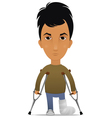 guy with a leg fracture vector image