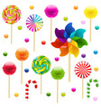 lollypop big set with pinwheel vector image