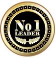 number one leader vector image
