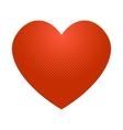 Pop art heart icon vector image