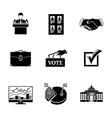 Set of ELECTION icons - votebox handshake vector image