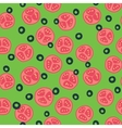 Stylized tomato and olive pattern vector image