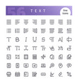 text line icons set vector image
