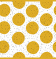 yellow circles and black chaotic dots on white vector image