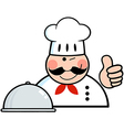 Winked Chef Logo Showing Thumbs Up vector image vector image
