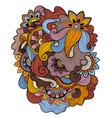 Floral tattoo zentagle methoddoudles composition vector image