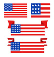 usa flag in style vector image