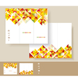 Brochures with mosaic WT vector image vector image