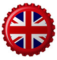 uk bottle cap vector image vector image