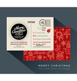 Christmas party holiday postcard background vector image vector image