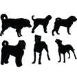 dogs collection - vector image