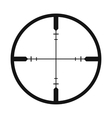 Crosshair black simple icon vector image