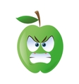 angry apple cartoon icon vector image