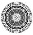 Circle Lace Ornament vector image
