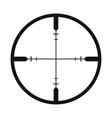 Crosshair black simple icon vector image