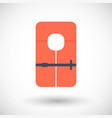 life jacket flat icon vector image