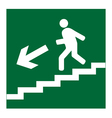 Man on Stairs going down symbol vector image