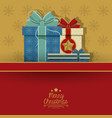 merry christmas card design vector image