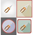 Repair tools flat icons 02 vector image
