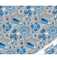 Repeating Floral Background Pattern Grey and blue vector image