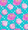 Seamless pattern with blooming flowers vector image