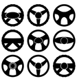 Steering Wheel Icon Collection vector image