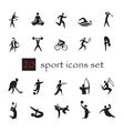 Summer Olympic games 20 twenty icon set vector image