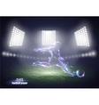 Stadium lights Motion design Football player vector image
