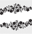 floral lace border vector image