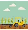 Corn harvest icon vector image