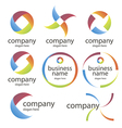 abstract round colored logos vector image vector image