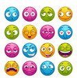 colorful cartoon comic faces with different vector image