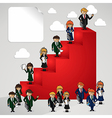 Business leadership cartoon people vector image vector image