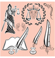 set of templates design elements for law vector image vector image