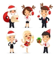 Office Workers Celebrating the New Year vector image